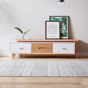 林氏木業北歐櫸木現代簡約伸縮電視櫃 DK2M V2