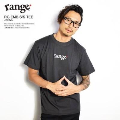 range レンジ rg EMB S/S tee -SUMI- メンズ Tシャツ 半袖 半袖Tシャツ tシャツ ロゴ ストリート atftps