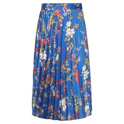 ピンコ PINKO ひざ丈スカート ブルー 46 ポリエステル 100% ひざ丈スカート