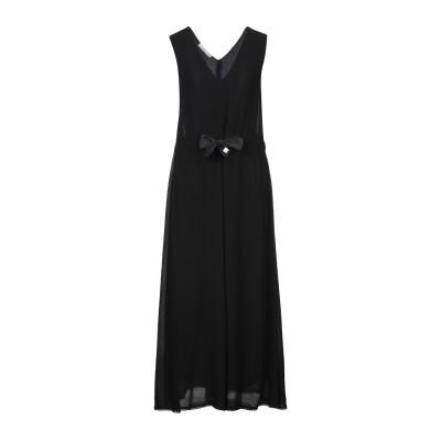 CARACTÈRE ロングワンピース&ドレス ブラック 40 レーヨン 100% / コットン / シルク ロングワンピース&ドレス