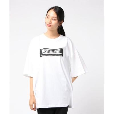 tシャツ Tシャツ 【six mouse】ボックスロゴバックプリントTシャツ