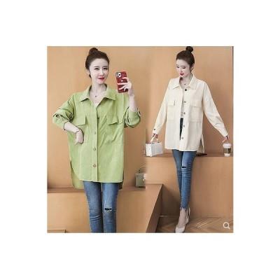 大きいサイズM-5XL ファッション 人気ワイシャツ アンズ グリーン2色展開