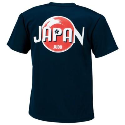 ミズノ メンズ 柔道日本代表応援Tシャツ[ユニセックス] 14ネイビー 3XL 柔道ライセンス品 日本代表応援グッズ 22JA7501