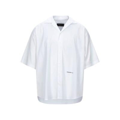 ディースクエアード DSQUARED2 シャツ ホワイト 50 コットン 97% / ポリウレタン 3% シャツ