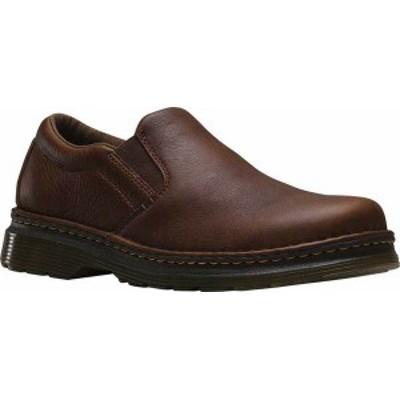 ドクターマーチン メンズ スリッポン・ローファー シューズ Men's Dr. Martens Boyle Slip On Shoe Dark Brown Grizzly