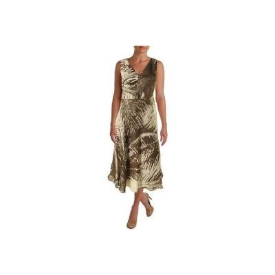 ドレス ワンピース Lafayette 148 Lafayette 148 3246 レディース ブラウン Linen プリント Wear to Work ドレス 2 BHFO