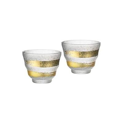 アデリア 冷茶グラス ペアセット 金一文字 約205ml プレミアムニッポンテイスト 日本製 S-6280
