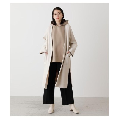 (AZUL by moussy/アズールバイマウジー)ECO SUEDE COLLARLESS COAT/レディース L/BEG1