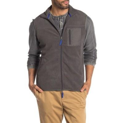 ビンテージ1946 メンズ ジャケット&ブルゾン アウター Nylon Mixed Media Polar Fleece Vest IRON GATE