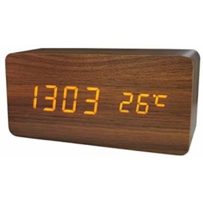 置き時計 置時計 デジタル おしゃれ 北欧 木目調LED アンティーク 時計 クロック 目覚まし時計 デジタル時計 アラーム時計 卓上 アラーム