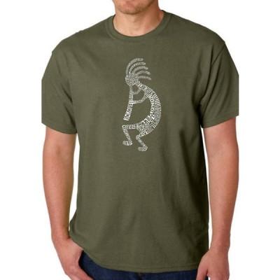 エルエーポップアート メンズ Tシャツ トップス Word Art Graphic T-Shirt - Kokopelli
