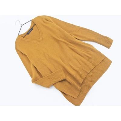 BLISS POINT ブリスポイント サイドスリット Vネック ニット セーター sizeS/茶 ◇■ ☆ akc5