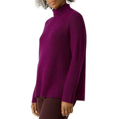 エイリーンフィッシャー レディース ニット・セーター アウター Ribbed Merino Wool Turtleneck Sweater
