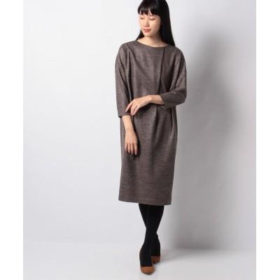 【ラピーヌ ブランシュ】 バランサラメツイルドレス レディース ブラウン 42 LAPINE BLANCHE