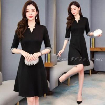 レディース 上質 ワンピース ミディアム丈 ワンピース 女の子 マチロングタイプ 新品 ファッション スリップドレス