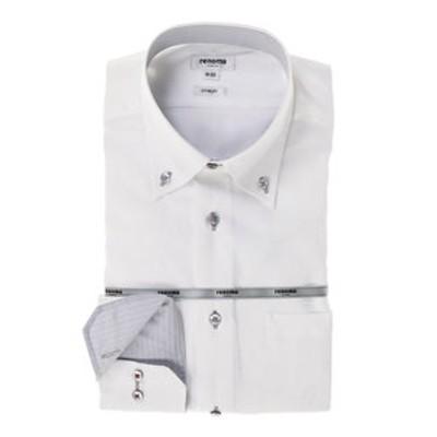 形態安定スリムフィット ドゥエボットーニボタンダウン長袖ビジネスドレスシャツ