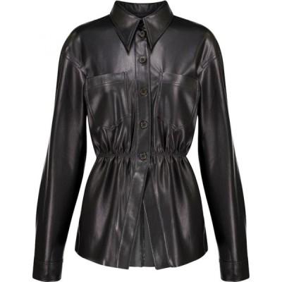 ナヌシュカ Nanushka レディース ブラウス・シャツ トップス thalita ruched faux leather shirt Black