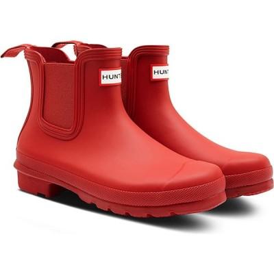 ハンター HUNTER レディース レインシューズ・長靴 チェルシーブーツ シューズ・靴 Original Waterproof Chelsea Rain Boot Military Red/Red