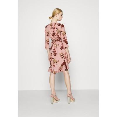 ヴェロモーダ レディース ファッション VMHENNA WRAP - Day dress - woodrose