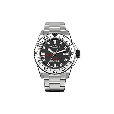 Armand Nicolet Gents-Wristwatch JS9 GMT Date Analog Automatic A486CGN-NR-MA4480AA