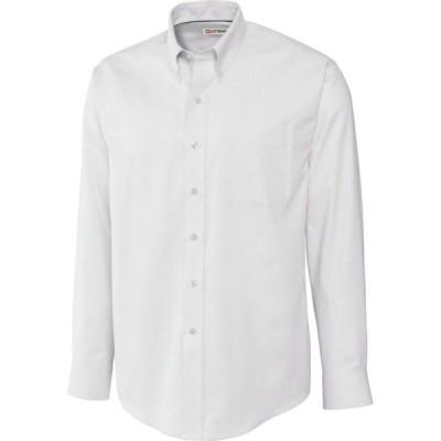 カッター&バック Cutter & Buck メンズ シャツ トップス Long Sleeve Nailshead Shirt White