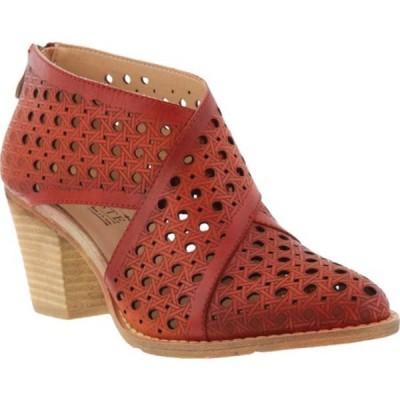 スプリングステップ ブーツ&レインブーツ シューズ レディース Ghalna Bootie (Women's) Red Leather