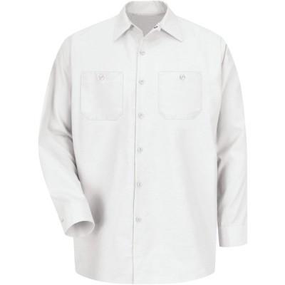 レッドキャップ シャツ トップス メンズ Red Kap Men's Long Sleeve Industrial Work Shirt White