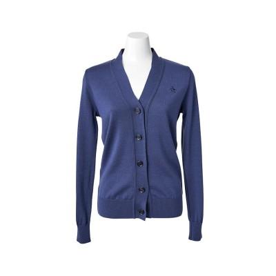 【マンシングウェア】 ウールカーディガン レディース ネイビー系 L Munsingwear