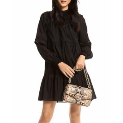 マイケルコース レディース ワンピース トップス Cotton Lawn Mini Dress Black