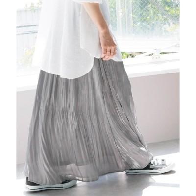スカート シャイニー消しプリーツスカート