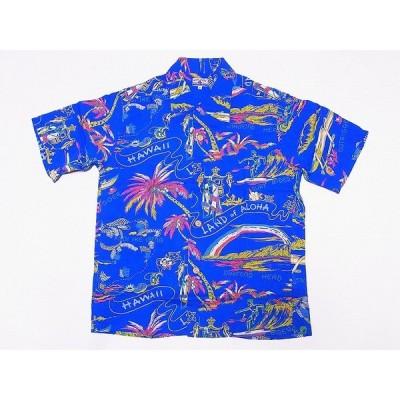 SUN SURF[サンサーフ] アロハシャツ SS37860 スペシャルエディション LAND OF ALOHA DISCOVERED 洋柄 (ブルー)