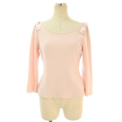 ルネ Tシャツ カットソー 肩リボン 長袖 38
