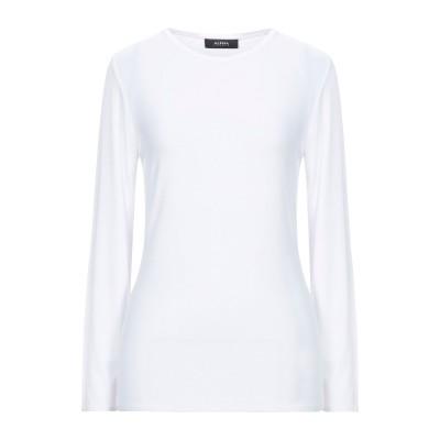 アルファスタジオ ALPHA STUDIO T シャツ ホワイト 38 レーヨン 92% / ポリウレタン 8% T シャツ