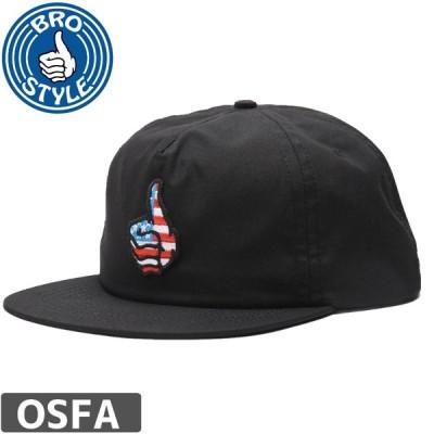BRO STYLE ブロスタイル スケボー キャップ USA UNSTRUCTURED CAP ブラック NO4