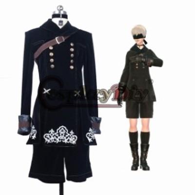 高品質 高級コスプレ衣装 ニーア オートマタ 風 オーダーメイド ドレス NieR-Automata YoRHa No. 9 Type S Costume
