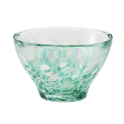日本製 津軽産 盃 ガラス  [津軽びいどろ] 盃 みずばしょう KEYUCA(ケユカ)