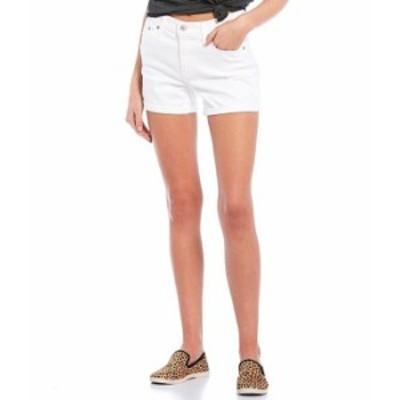 リーバイス レディース ハーフパンツ・ショーツ ボトムス Levi'sR Mid Length Rolled Cuff Shorts White Ice
