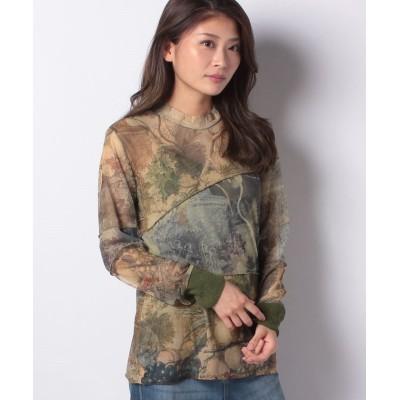 【デシグアル】 Tシャツ長袖 CHATTE レディース グリーン系 S Desigual