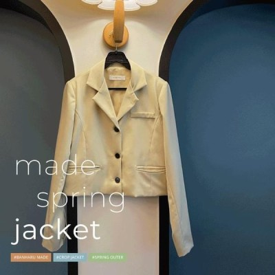 BANHARU レディース ジャケット Birdmoon 3-button cropped jacket