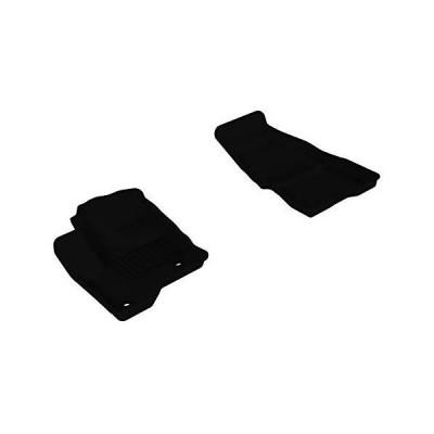 [新品]3D MAXpider All-Weather Floor Mats for Ford Flex 2009-2019 Custom Fit Car Floor Liners, Kagu Series (1st Row, Black)