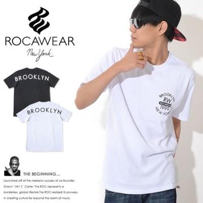 ROCAWEAR ロカウェア Tシャツ 半袖 左胸ロゴ 刺繍 バックプリント BROOKLYN (RW182T05) セール