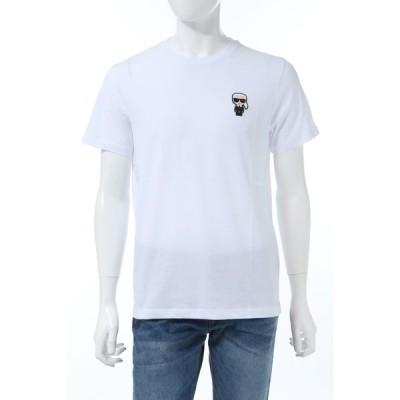カールラガーフェルド Tシャツ 半袖 丸首 クルーネック メンズ 755055 501220 ホワイト 2020年春夏新作 KARL LAGERFELD