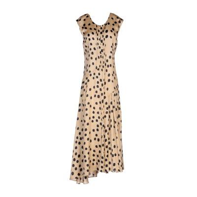 マニラ グレース MANILA GRACE 7分丈ワンピース・ドレス ベージュ 40 レーヨン 68% / シルク 32% 7分丈ワンピース・ドレス