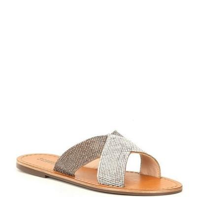 シュッツ レディース サンダル シューズ Amariles Crystal Embellished Strap Slide Sandals