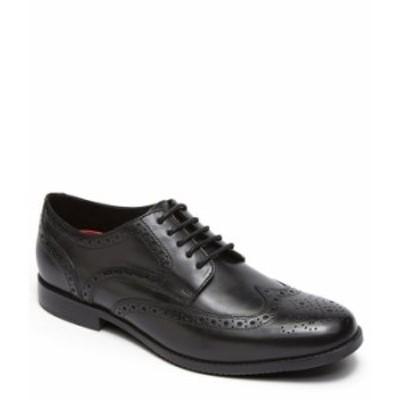 ロックポート メンズ ドレスシューズ シューズ Men's Style Purpose Leather Wing Tip Oxfords Black