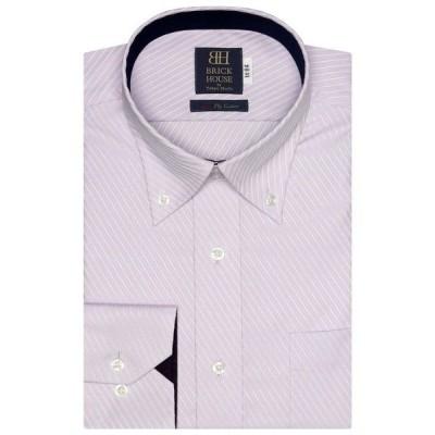 シャツ ブラウス 形態安定ノーアイロン ドゥエボットーニボタンダウンカラー 長袖ビジネスワイシャツ