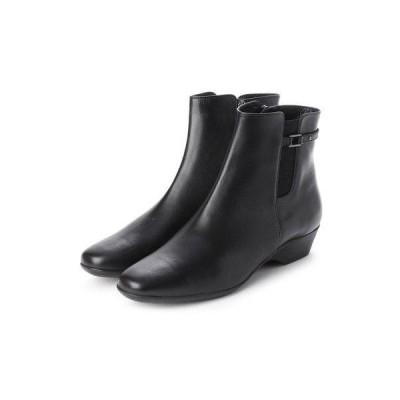 ワシントンフットハッピー WASHINGTON Foot Happy 333-F33400 晴雨兼用ショートブーツ (ブラック)