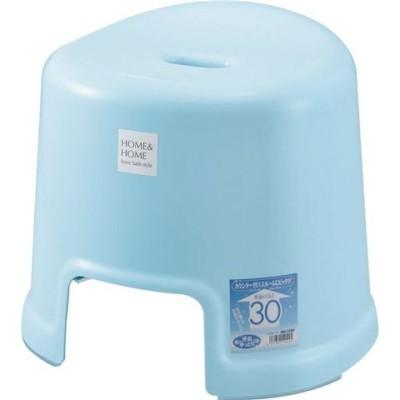 ベーシック 風呂椅子/バスチェア ブルー 高さ30cm 防カビ加工付き すべり止め付き 『HOME&HOME』 生活用品 インテリア 雑貨 バス用品 入浴剤 風呂 [▲][TP]