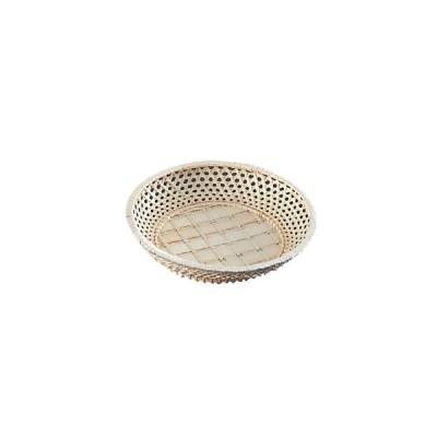 山下工芸 籐カゴ サンド皿 丸型 φ210×H45 33-167 5406300