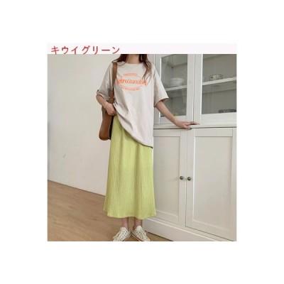 【送料無料】夏 韓国風 ハイウエスト 着やせ 分割スカート 中長スタ | 346770_A63396-2296686